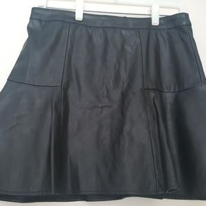 Women's Faux-Leather Miniskirt